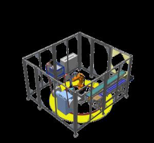 Celula robotizata slefuire cu robot KUKA